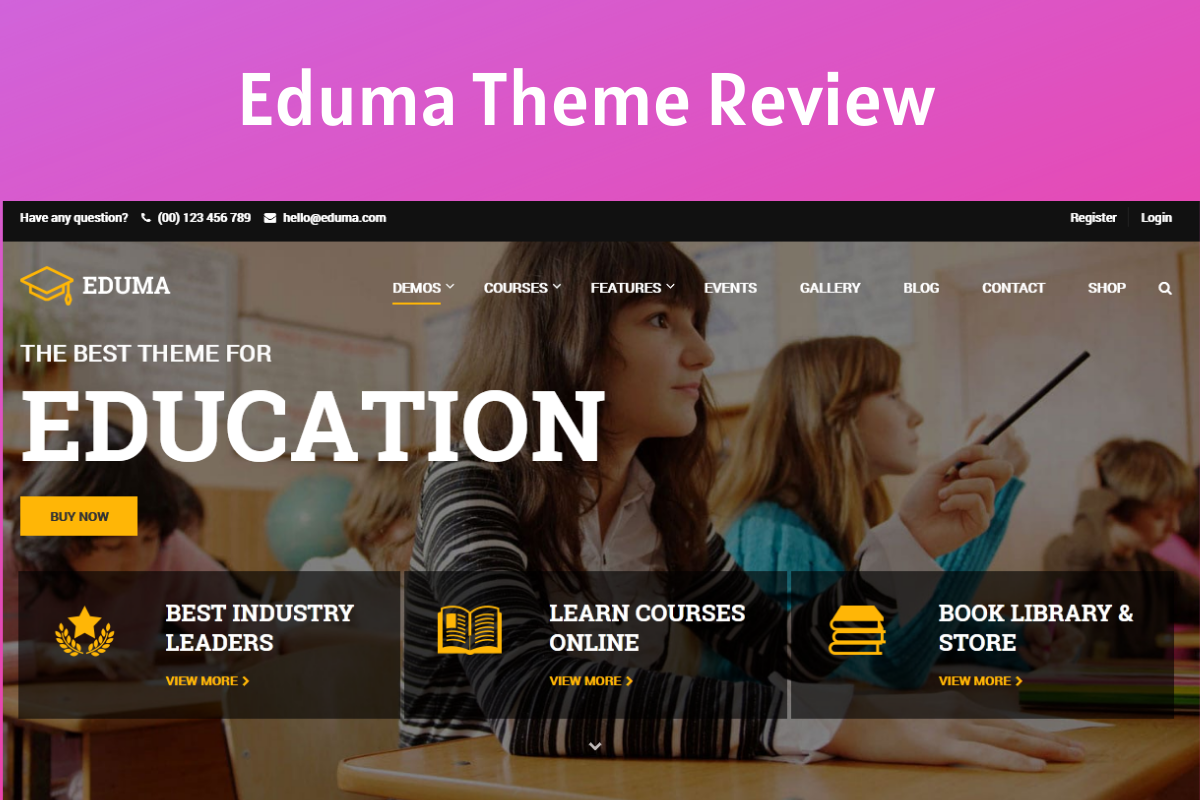 Eduma Theme Review