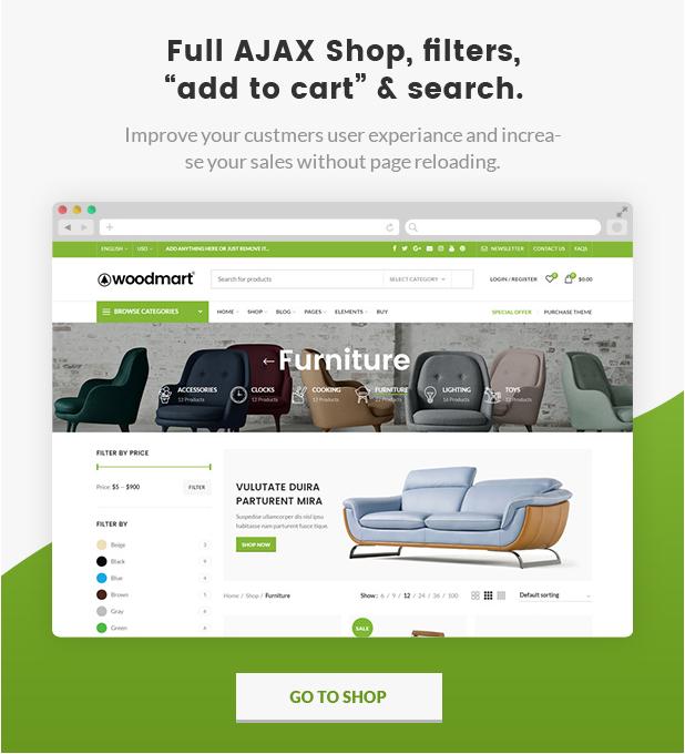 Woodmart theme- Ajax shop