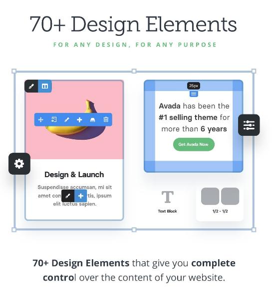 Avada theme design element