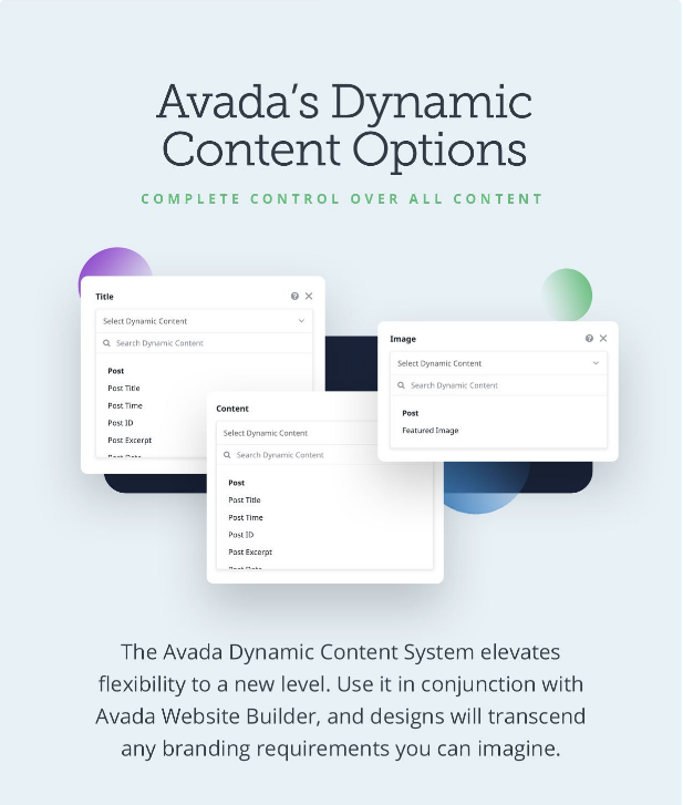 Avada theme dynamic content