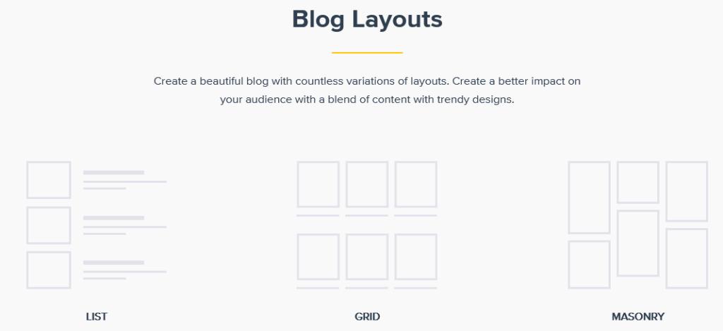 Astra Pro blog layout