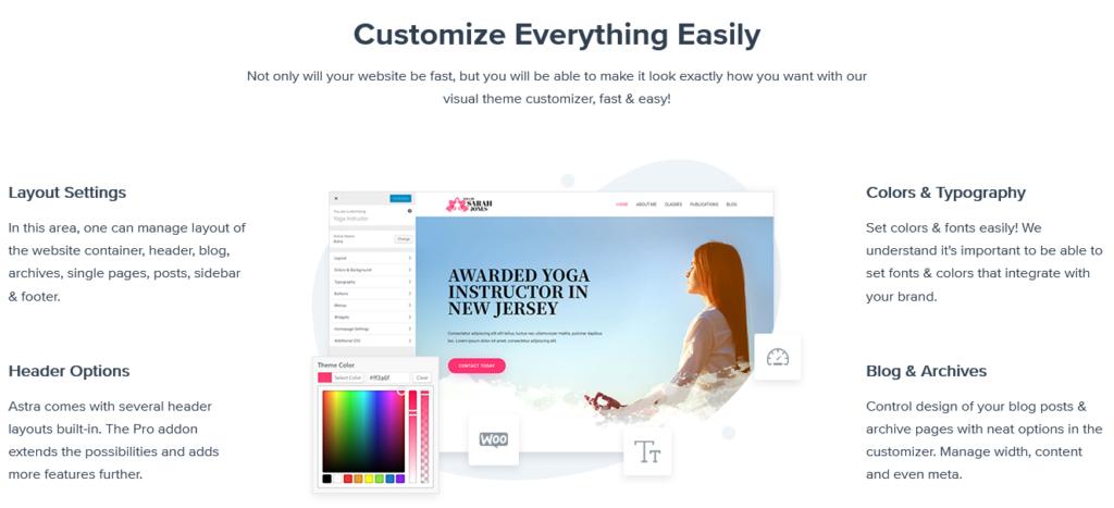 Astra Theme Customization