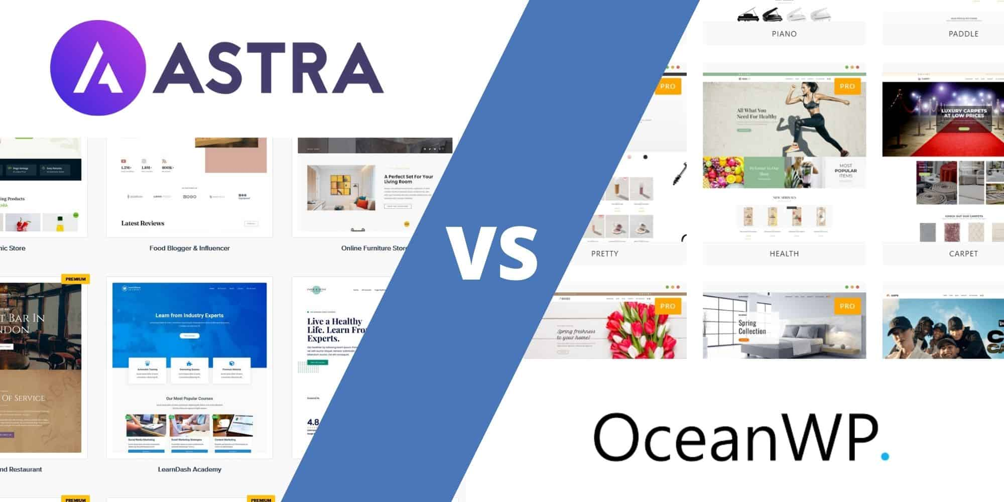 Astra Vs OceanWP   21 Awesome WordPress Themes Compared [210211]