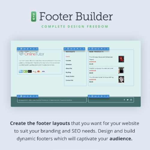 Avada Theme Builder Footer