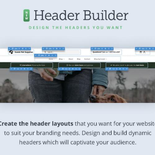 Avada Theme Builder Header