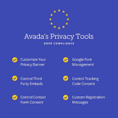 Avada Theme Privacy tools